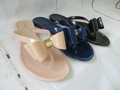 "New Women ""Denver"" Jelly Sandals Flip Flop Slip On with Bow by Ann More"