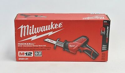 Milwaukee M12  2420-21 12-Volt Hackzall Saw Kit w/ Battery & Charger