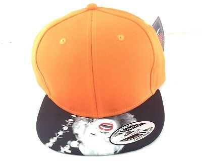 Marilyn Monroe Womens Orange/Black Snapback Hat, Cap Flat Brim