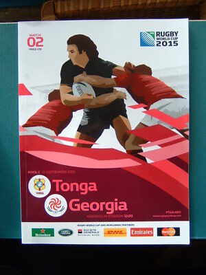 RWC 2015 Match Program.