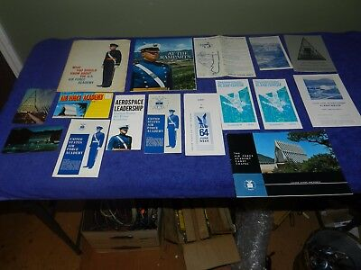 "Large Lot of Vintage 1960s USAF Air Force Academy Brochures Postcards ETC ""B"" NR"