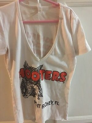 100% authentic Hooters V-neck Uniform shirt Port Richey, Fl size Small