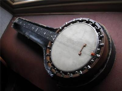 Antique Windsor & Taylor Zither Banjo with a case