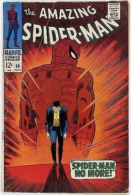 The Amazing Spider-Man #50 (Marvel,1967) 1st Appearance Kingpin/Free Shipping NR