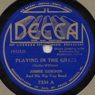 "78er Jazz Blues Jimmie Gordon ""Drive Me Away Blues"""