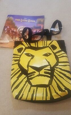 The Lion King Stage Show Programme and tote bag with tag