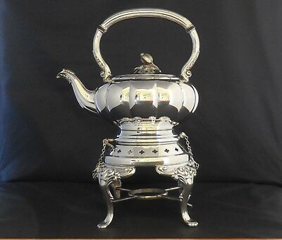 Vint ONEIDA HEIRLOOM MELON Silverplate Tipping Water Tea Server Buffet Chaffing