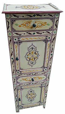 Moroccan Wood Night Stand Armoire Table Moorish Middle East Mediteranean Dresser
