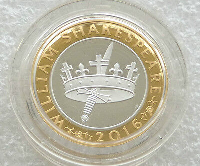 2016 William Shakespeare Histories £2 Two Pound Silver Proof Coin Box Coa
