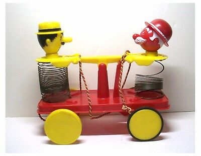 Vintage Slinky Pat Mike Happy Handcar Railroad Pull Toy 1956