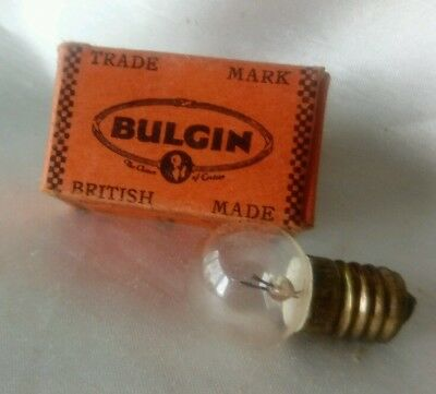 Vintage NEW BOXED BULGIN TYPE B630 6V 3A Projector Bulb Woking