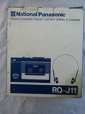 VINTAGE NATIONAL PANASONIC WALKMAN RQ-J11 boxed / headphones carry case