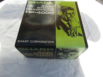 SHARP VINTAGE HEADPHONES STEREO HP 400HP BOXED  a real nice set still