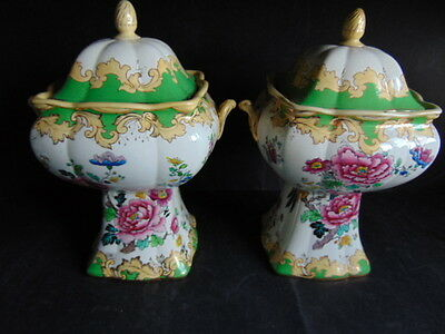 Keeling & Co. Ltd. Losol Ware Matching Lidded Urns In General Good Condition