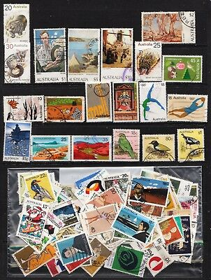 1974 To 1980 100 Australian Stamps  All Different  Used