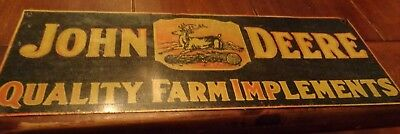 "10"" X 25.5"" John Deere Barn Quality Farm Implements Colorful Patina Rustic Sign"