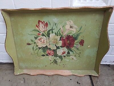 Beautiful Large Antique Timber Tray