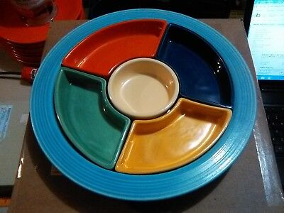 Very Good~Vintage Fiesta Relish Tray in choice of available colors !
