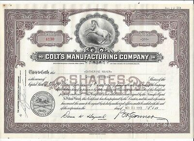 Stk-Colt's Manufacturing Co. 1946 Hartford, CT See image #5-6