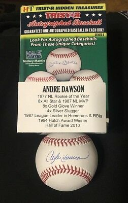 Andre Dawson TRISTAR CERTIFIED AUTOGRAPHED OML Baseball CUBS/EXPOS HOF '77 ROY