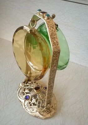 Jeweled frame w 2 hanging intaglio open salt cellars - Close to perfection