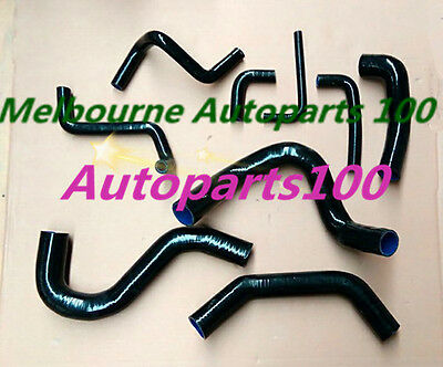 BLACK Radiator Hose Kit FOR Nissan Patrol Y60 GQ 2.8L RD28T Turbo Diesel 94-97