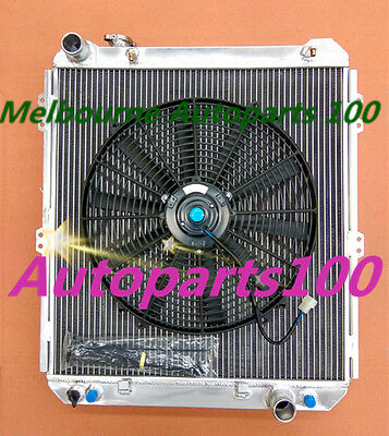 "Aluminum radiator +16"" Fan for TOYOTA HILUX SURF KZN130 1KZ-TE AT/MT 1993 - 1996"