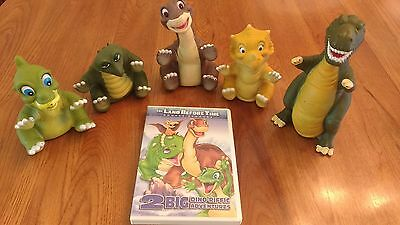 Land Before Time Toy lot with DVD!! pizza hut toys from 1990s