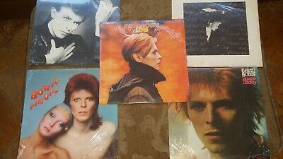 NEVER OPENED 5 David Bowie LPS from the 80's
