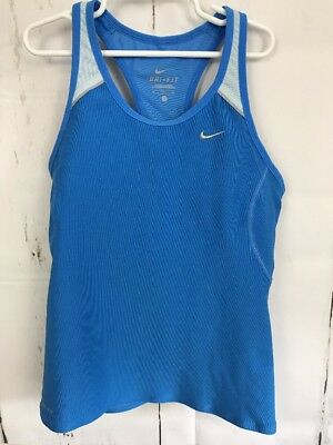 Women's NIke Dri-Fit blue Racerback active tank size small