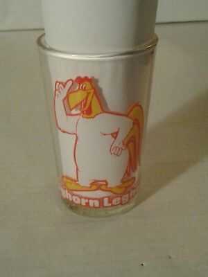 "1976 Warner Bros Foghorn Leghorn Elmer Fudd on Bottom 4-1/4"" Juice Glass Rare"