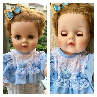 Vintage Amer Char Blue eyes Vinly Toodles Baby Toddler Joints inc Cute Outfit