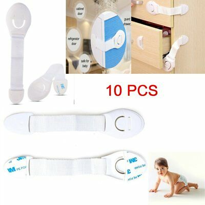 10x Drawer Door Locks Cabinet Cupboard Safety Locks for Children Baby Infant Kid