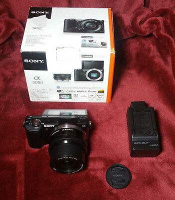 Sony Alpha a5000 20.1MP Digital SLR Camera - Black (Kit w/ E PZ OSS 16-50mm