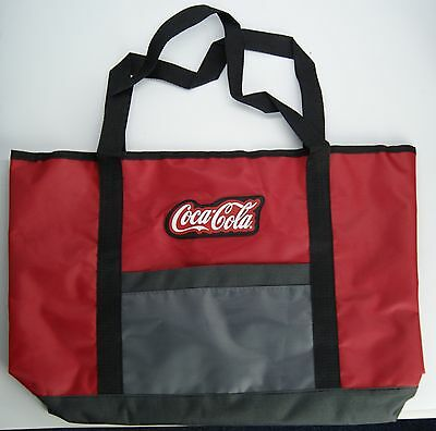COCA-COLA Logo Red and Gray Tote Bag 19 inches from Coke Museum Atlanta, GA- NEW