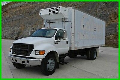 2000 Ford F-650 20ft Box Truck Refrigerator (Cat C-7 Diesel) No Reserve!