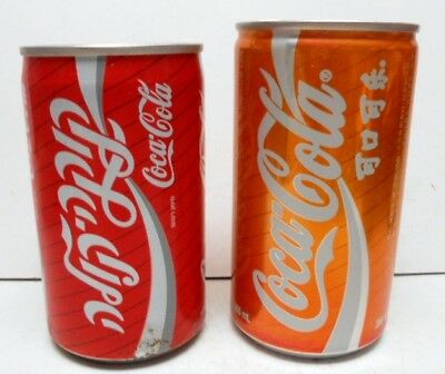 Pair of International 1980s Coca-Cola Cans - Israel and China - Nice Find