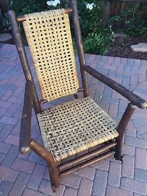 """Vintage Collectible """"Old Hickory"""" Rocking Chair"""
