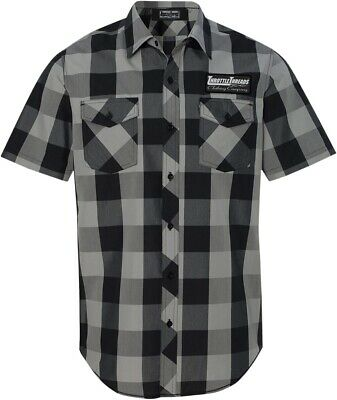 NEW Throttle Threads Short Sleeve Shop Shirt
