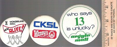 Collector buttons - Lot of 3 London Ontario - Malls CKSL Radio