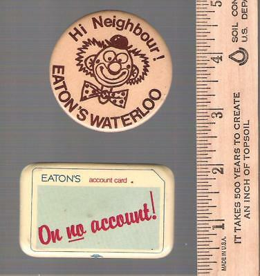 Collector buttons - Lot of 2 Eaton's Stores Retailer