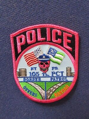 NYPD New York City Police 105 Precinct BREAST CANCER AWARENESS MONTH Patch RARE!