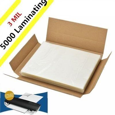 "3 Mil 5000 Pack Letter Size Laminator Hot Laminating Pouches - 9"" x 11.5"" Sheets"