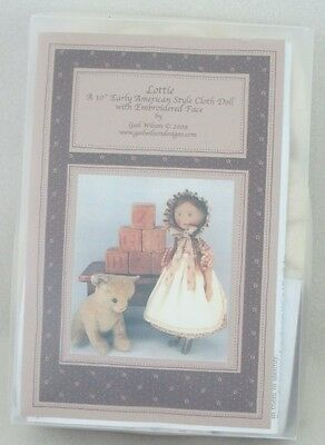 """New in Package Gail Wilson 10"""" Lottie Early Am. Style Doll Kit-Sold Out Ed"""