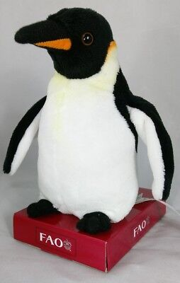FAO Schwarz 8 inch Small Penguin Black White 2014 Toys R Us Exclusive New w/Tags