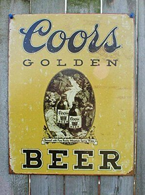 COORS Golden Vintage Tin Sign  12x16
