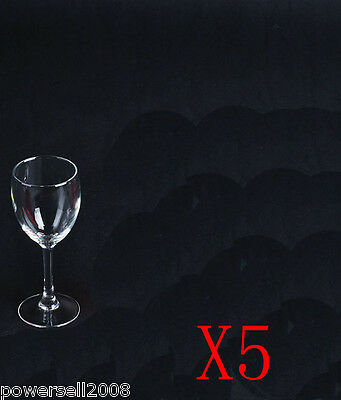 5X 200ML Classic Toughened Glass Red Wine Foreign Wine Goblet Multi-Use NN