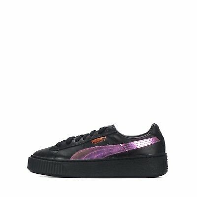 bd9d0df5477 PUMA BASKET PLATFORM Rainbow Junior Shoes Black Limelight -  94.02 ...