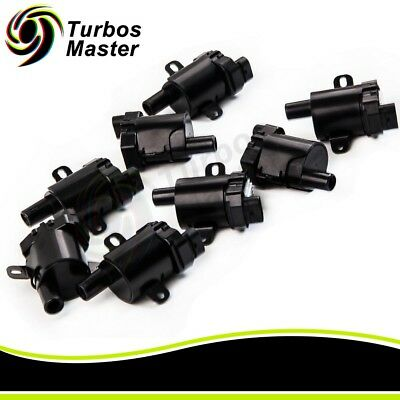 New set of 8 Round Ignition coil Coils for Chevrolet GMC 5.3L 6.0L 4.8L UF-262