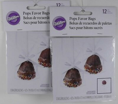 New, 2 Packages Of Wilton Cake Pop Favor Bags